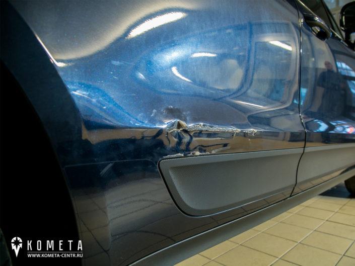 Удаление вмятины на кузове Porsche Macan