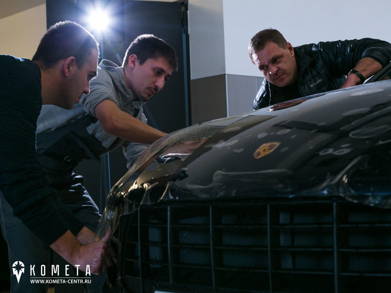 Нанесение пленки на Porsche Macan рисунок 4