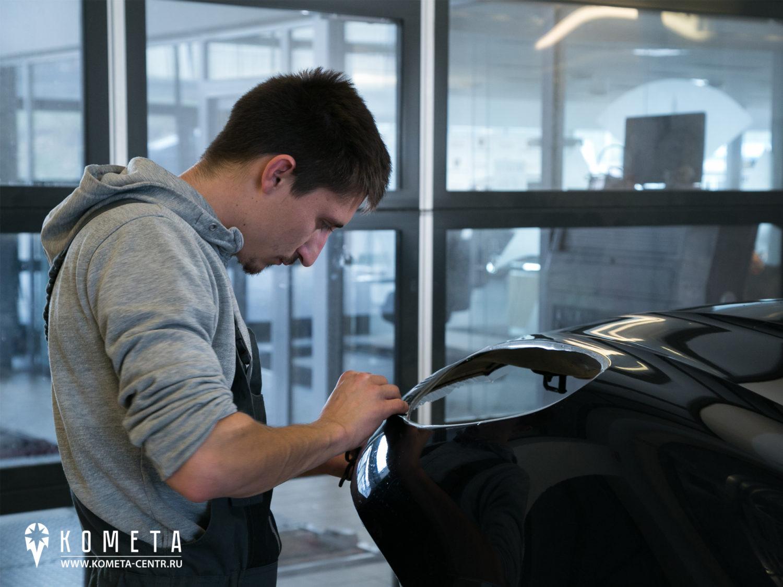 Нанесение пленки на Porsche Macan рисунок 5